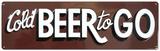 Cold Beer To Go Embossed Tin Sign Blikskilt