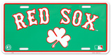 Red Sox Clover License Plate Tin Sign