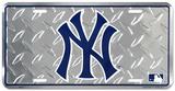 NY Yankees Diamond License Plate Tin Sign