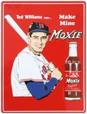 Ted Williams Make Mine Moxie Soda Tin Sign