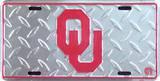 Oklahoma University Diamond License Plate Carteles metálicos