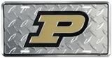 Purdue Diamond License Plate Carteles metálicos