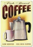 Fresh Brewed Coffee Tin Sign