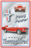 Ford Mustang Pony Power American Thoroughbred Carteles metálicos