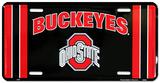 Ohio State Buckeye Black License Plate Carteles metálicos
