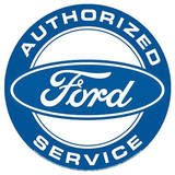 Authorized Ford Service Round Blechschild