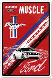 Ford Mustang Legendary Muscle Car Plaque en métal