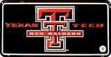 Texas Tech License Plate Tin Sign