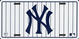 NY Yankees Stripe License Plate Plaque en métal