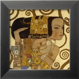 Das Warten, Stoclet-Fries, ca. 1909, Detail Poster von Gustav Klimt