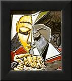 Kopf einer lesenden Frau|Tete d'une Femme Lisant Poster von Pablo Picasso