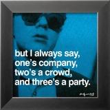 Tre er nok til en fest, på engelsk Plakat