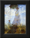 Frau Mit Sonnenschirm Monet Poster Bei Allposters De