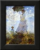 Der Spaziergang. Frau mit Sonnenschirm Kunstdrucke von Claude Monet