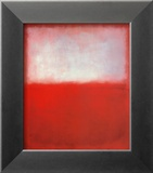 White over Red Posters by Mark Rothko