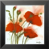 Poppies in the Wind I Posters by  Marthe