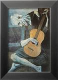 Le vieux guitariste aveugle, vers 1903 Affiche par Pablo Picasso