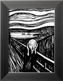 Skrik Posters av Edvard Munch