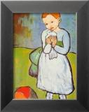 Child with a Dove, c.1901 Kunstdrucke von Pablo Picasso