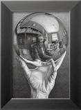 Mains avec sphère Art par M. C. Escher
