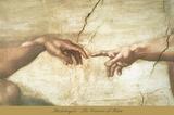 The Creation of Adam (detail) Posters af Michelangelo Buonarroti,