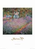 Monet's Garden at Giverny Plakater av Claude Monet