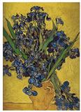 Irises in Vase Posters av Vincent van Gogh