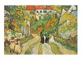 Stairway at Auvers Kunst von Vincent van Gogh