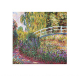 Japanilainen silta Posters tekijänä Claude Monet