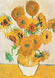 Vase with Fifteen Sunflowers Kunst af Vincent van Gogh