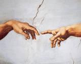 A Criação de Adão Pôsters por  Michelangelo Buonarroti