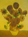 Fifteen Sunflowers Print by Vincent van Gogh