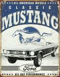 Classic Mustang Metalen bord