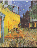Caféterasse bei Nacht Kunst von Vincent van Gogh