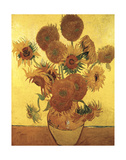 Fifteen Sunflowers on Gold, c.1888 Kunstdrucke von Vincent van Gogh