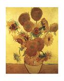 Fifteen Sunflowers on Gold, c.1888 Arte por Vincent van Gogh