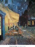Cafe Terrace on Place du Forum Arles Plakater av Vincent van Gogh