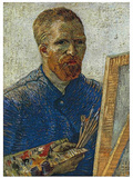 Self Portrait in Front of Easel Plakater av Vincent van Gogh