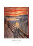 Le cri Affiches par Edvard Munch