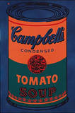 Colored Campbell's Soup Can, c.1965 Blue & Orange Plakater af Andy Warhol