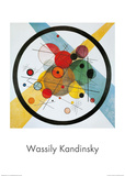 Circles in a Circle Affiches van Wassily Kandinsky