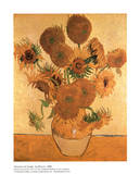 Vase with Fifteen Sunflowers Posters por Vincent van Gogh