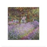 The Artist's Garden at Giverny Kunst av Claude Monet