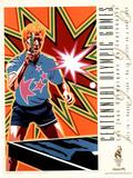 Olympic Table Tennis, c.1996 Atlanta Posters av Hiro Yamagata