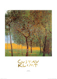 Orchard Art by Gustav Klimt