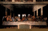 The Last Supper, 1498 (post-restoration) Plakater af Leonardo da Vinci,