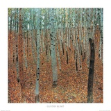 Forest of Beeches Poster van Gustav Klimt