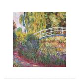 A ponte japonesa Pôsters por Claude Monet