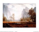 Looking Up the Yosemite Valley Plakater af Albert Bierstadt