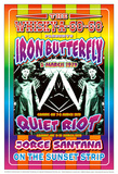 Iron Butterfly and Quiet Riot Whisky-A-Go-Go Los Angeles, c.1979 Plakater af Dennis Loren